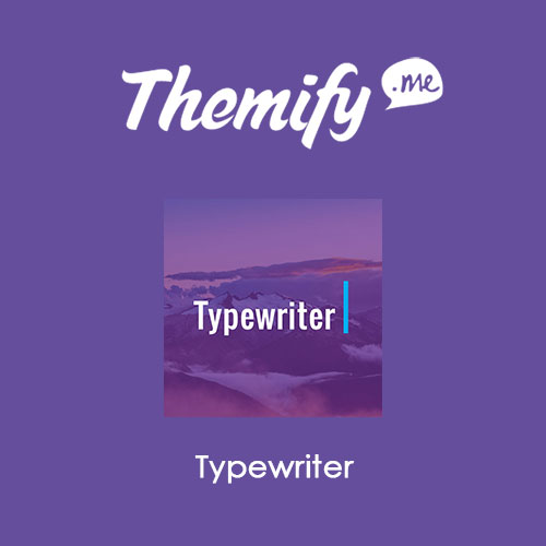Themify Builder Typewriter Addon