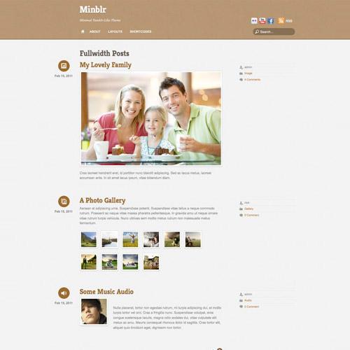 Themify Minblr WordPress Theme