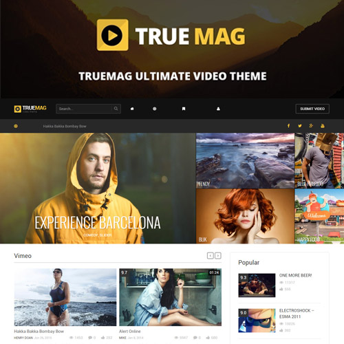 True Mag WordPress Theme for Video and Magazine