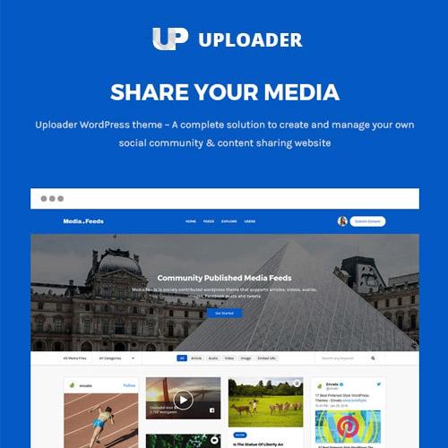 Uploader Advanced Media Sharing Theme