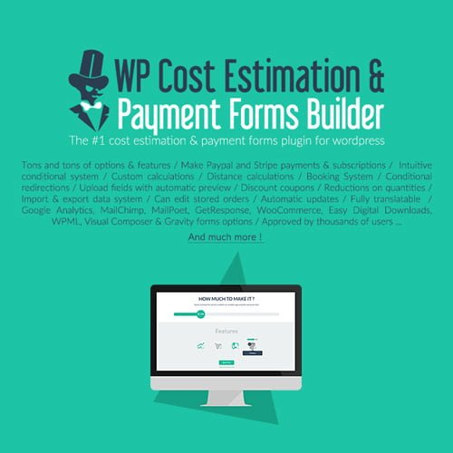WP Cost Estimation Payment Forms Builder