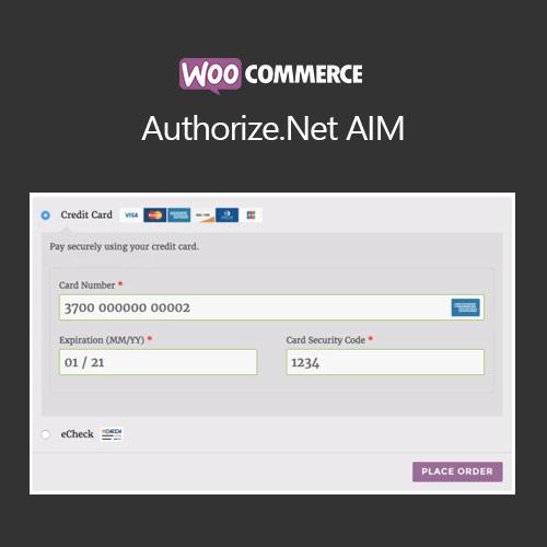 WooCommerce Authorize.Net AIM