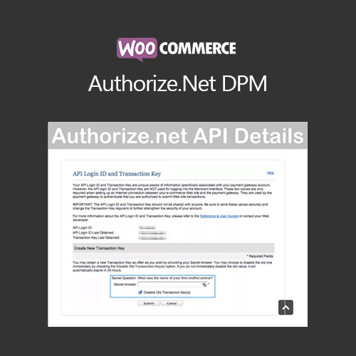 WooCommerce Authorize.Net DPM