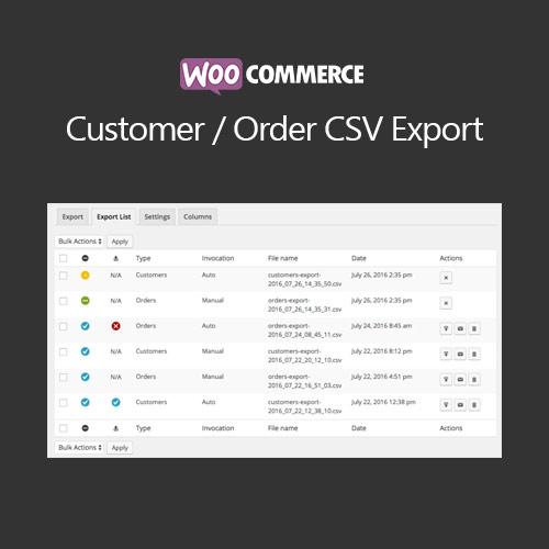 WooCommerce Customer Order CSV