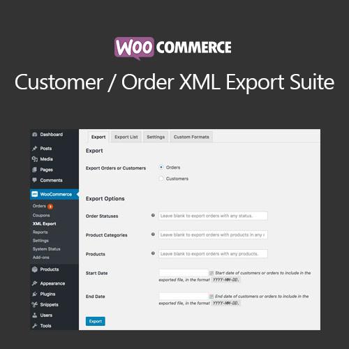 WooCommerce Customer Order XML Export Suite