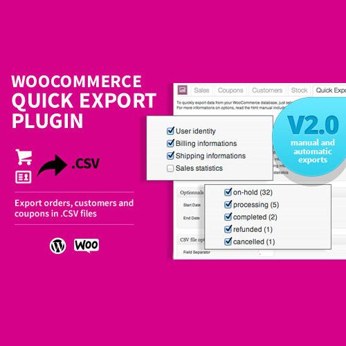 WooCommerce Quick Export Plugin