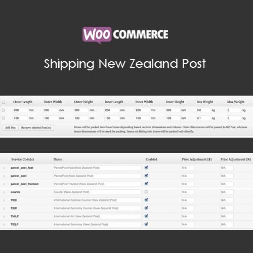 WooCommerce Shipping New Zealand Post