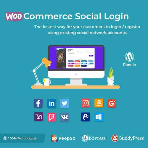 WooCommerce Social Login WordPress Plugin