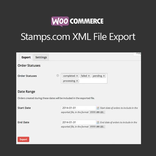 WooCommerce Stamps.com XML File