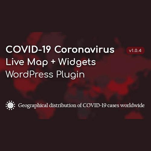 COVID 19 Coronavirus Live Map Widgets for WordPress