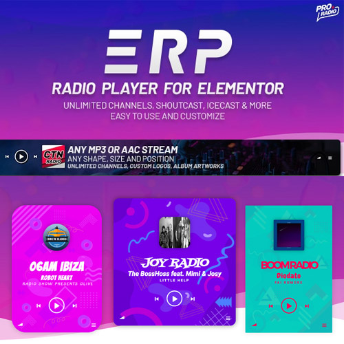 Erplayer Radio Player for Elementor