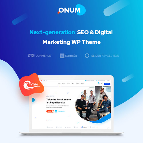 Onum SEO Marketing Elementor WordPress Theme