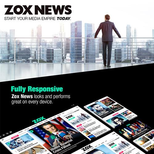 Zox News Professional WordPress News Magazine Theme