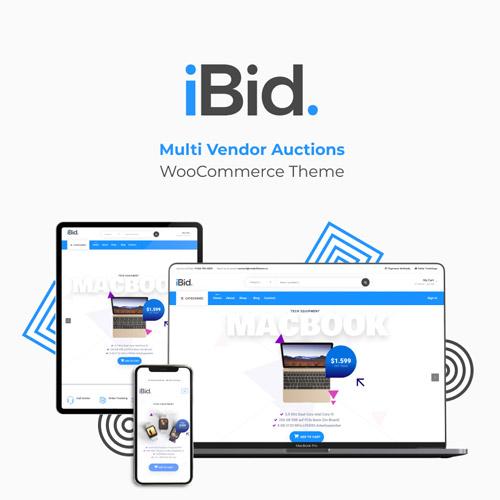 iBid Multi Vendor Auctions WooCommerce Theme