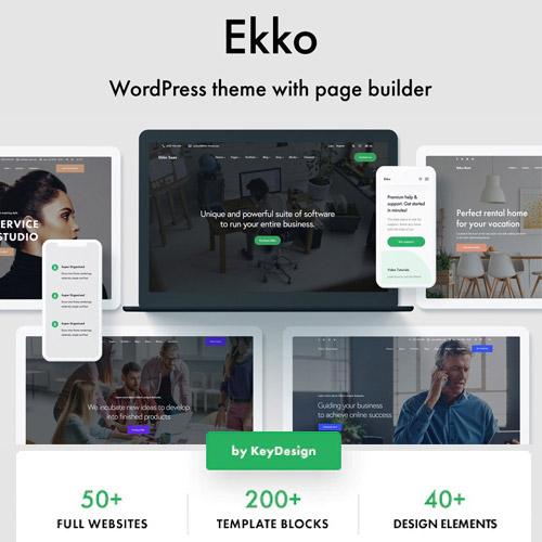 Ekko Multi Purpose WordPress Theme with Page Builder