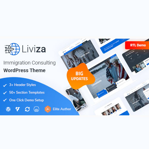 Liviza Immigration Consulting WordPress Theme